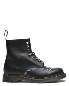 BLACK MENS FOOTWEAR DR. MARTENS BOOTS - SS25919001BLKM