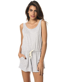TILLY GREY STRIPE WOMENS CLOTHING THE BARE ROAD PLAYSUITS + OVERALLS - 6-9-1407-3-11BGSTR