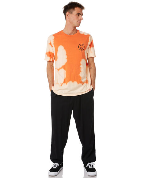 ORANGE WHITE WASH MENS CLOTHING SPITFIRE TEES - 51010238AQOWWSH