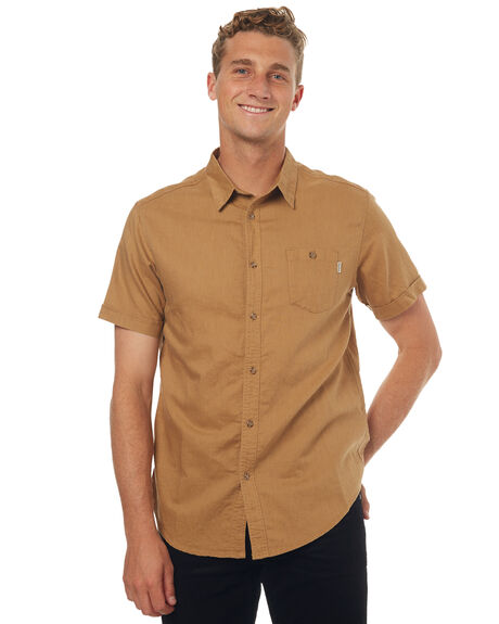 TAN MENS CLOTHING RHYTHM SHIRTS - JUL17-WS04-TAN