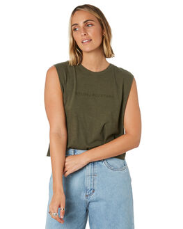 OLIVE NIGHT WOMENS CLOTHING THRILLS SINGLETS - WTS9-117FONGT