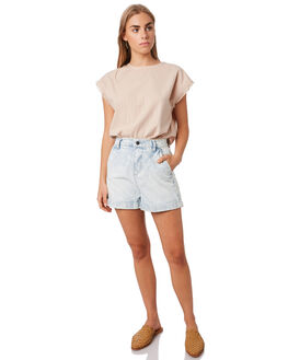 LIGHT ACID WOMENS CLOTHING THE HIDDEN WAY SHORTS - H8201232LTACD