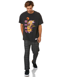 SHAQ BLACK MENS CLOTHING MITCHELL AND NESS TEES - 4173VINTAGEPLAYERSBK