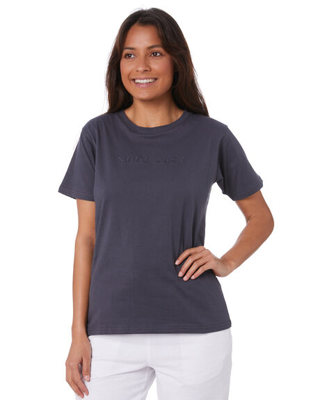 WASHED NAVY WOMENS CLOTHING NUDE LUCY TEES - NU24111WNVY