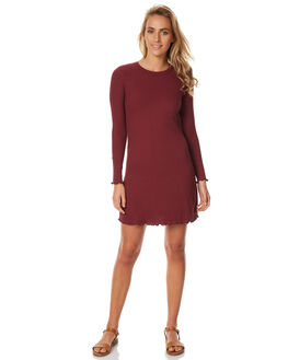 BURGUNDY WOMENS CLOTHING ALL ABOUT EVE DRESSES - 6401021BURG