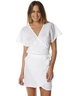 WHITE WOMENS CLOTHING LILYA DRESSES - LND50-WH-LSP16WHT