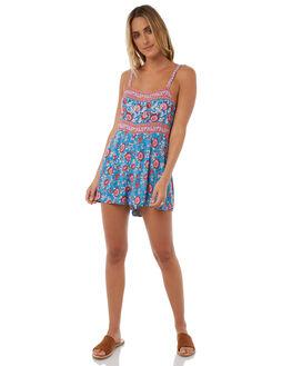 BLUE WOMENS CLOTHING ARNHEM PLAYSUITS + OVERALLS - ARPRRO01BLU