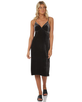 BLACK WOMENS CLOTHING TIGERLILY DRESSES - T381402BLK