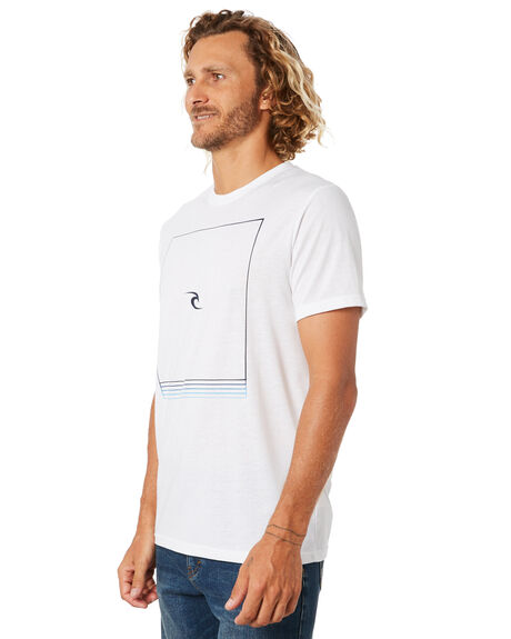 WHITE MENS CLOTHING RIP CURL TEES - CTELW91000