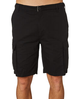BLACK MENS CLOTHING OBEY SHORTS - 172100062BLK