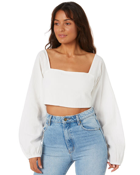 WHITE WOMENS CLOTHING TOBY HEART GINGER FASHION TOPS - T1472TWHT