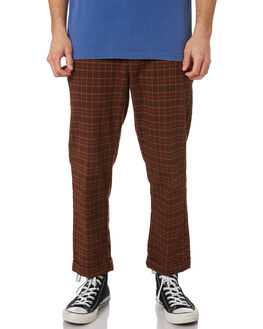 BROWN BLACK GATOR MENS CLOTHING BRIXTON PANTS - 04081BRPLD