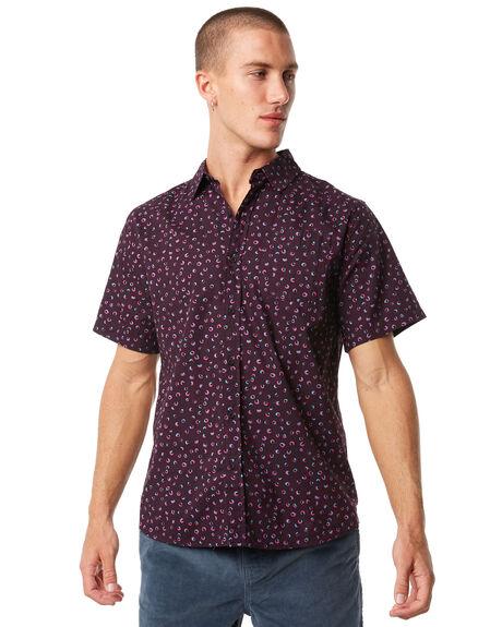 PURPLE MENS CLOTHING KATIN SHIRTS - WVSEE01PURP
