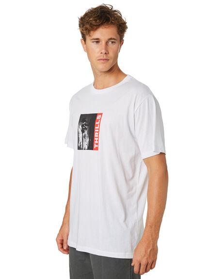 WHITE MENS CLOTHING THRILLS TEES - TR8-101AWHT