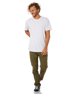 OLIVE CANVAS MENS CLOTHING HURLEY PANTS - AO1747395