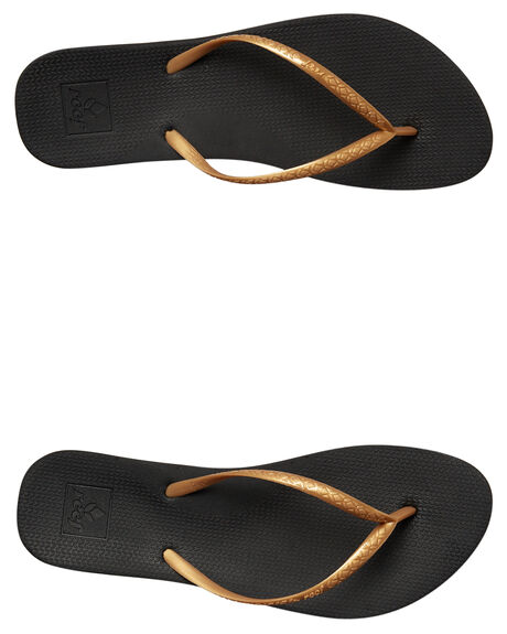 BLACK GOLD WOMENS FOOTWEAR REEF THONGS - A2YFKBLKGL