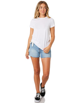 WHITE WOMENS CLOTHING NUDE LUCY TEES - NU23554WHT