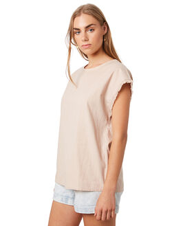 TAUPE WOMENS CLOTHING THE HIDDEN WAY FASHION TOPS - H8202281TAUPE