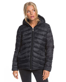 ANTHRACITE WOMENS CLOTHING ROXY JACKETS - ERJJK03388-KVJ0