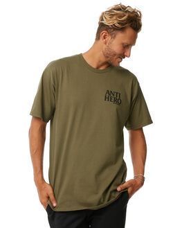 MILITARY GREEN MENS CLOTHING ANTI HERO TEES - 51020267JMGRN