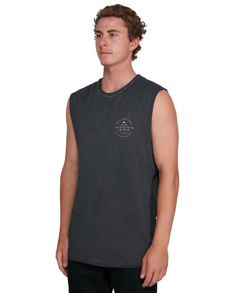 BLACK MENS CLOTHING BILLABONG SINGLETS - BB-9503505-BLK