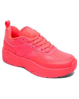 HOT PINK WOMENS FOOTWEAR DC SHOES SNEAKERS - ADJS700078-HPN