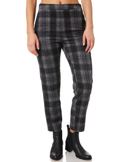 CHARCOAL PLAID WOMENS CLOTHING ALL ABOUT EVE PANTS - 6433040CHK