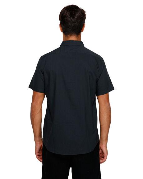 BLACK MENS CLOTHING RVCA SHIRTS - RV-R382185-BLK