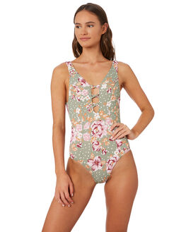 KEIRA FLORAL WOMENS SWIMWEAR SWELL ONE PIECES - S8201332KEFLR