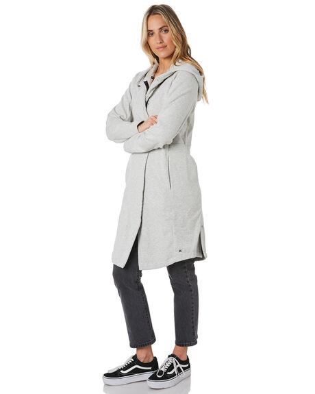 GREY HEATHER WOMENS CLOTHING HURLEY JACKETS - CJ8238050