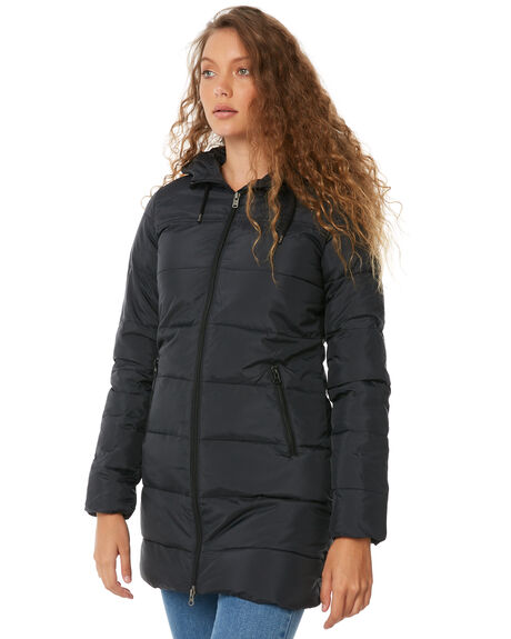 TRUE BLACK WOMENS CLOTHING ROXY JACKETS - ERJJK03266KVJ0
