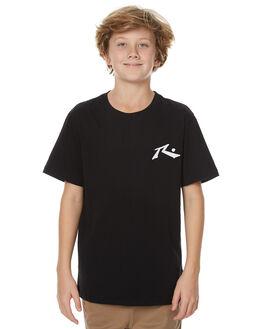 BLACK KIDS BOYS RUSTY TEES - TTB0547BLK