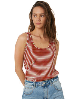 MULTI STRIPE WOMENS CLOTHING SWELL SINGLETS - S8182272MUL