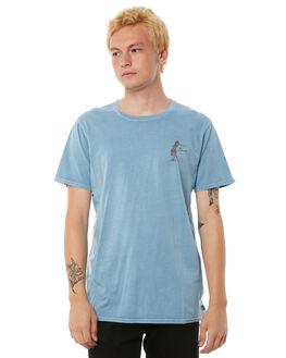 GLACIER BLUE MENS CLOTHING BANKS TEES - WTS0231BGL