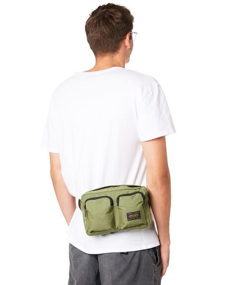 GREEN MENS ACCESSORIES STUSSY BAGS + BACKPACKS - ST792021GRN