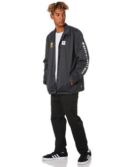 BLACK MULTI COLOUR MENS CLOTHING ADIDAS JACKETS - DU3941BLK