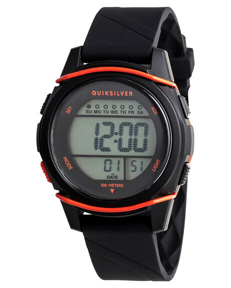BLACK ORANGE BLACK KIDS BOYS QUIKSILVER WATCHES - EQBWD03004XKNK