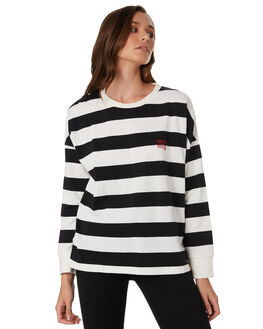 BLACK CREAM WOMENS CLOTHING RPM TEES - 9WWT04B2BKCRM