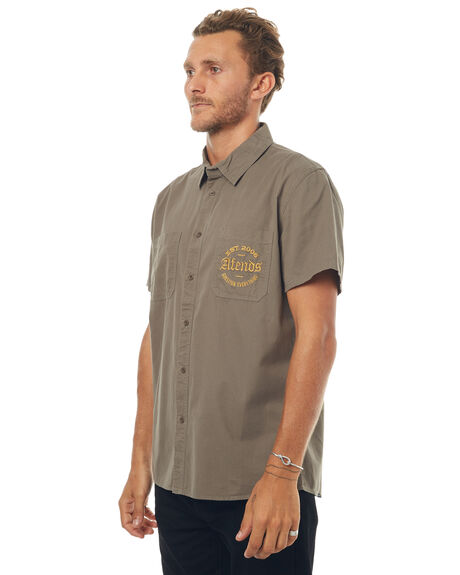 STONE GREEN OUTLET MENS AFENDS SHIRTS - 04-02-113SGRN