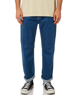 WASHED INDIGO MENS CLOTHING AFENDS JEANS - M181451WINDI