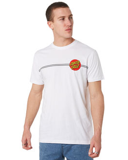 WHITE MENS CLOTHING SANTA CRUZ TEES - SC-MTD9373WHT