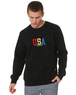 BLACK MENS CLOTHING DICKIES JUMPERS - K3190305BK