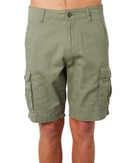 WASHED OLIVE MENS CLOTHING DEPACTUS SHORTS - D5183236WSHOL