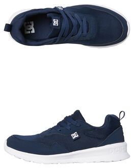 NAVY WHITE MENS FOOTWEAR DC SHOES SNEAKERS - ADYS700140NWH
