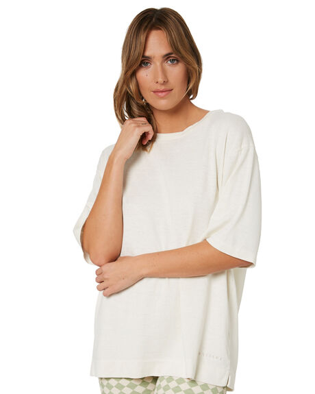 DIRTY WHITE WOMENS CLOTHING THRILLS TEES - WTH21-101ADWHT