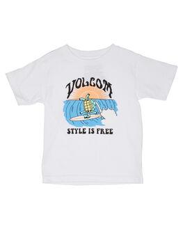 WHITE KIDS BOYS VOLCOM TOPS - Y3541930WHT
