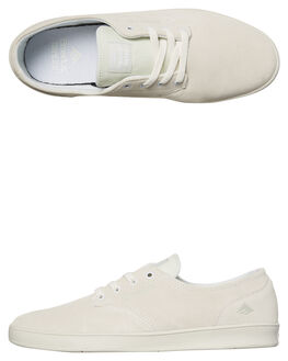 WHITE WHITE MENS FOOTWEAR EMERICA SKATE SHOES - 6102000089-103