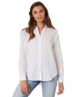 WHITE WOMENS CLOTHING NUDE LUCY FASHION TOPS - NU23534WHT