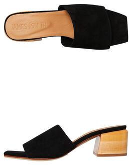 BLACK SUEDE WOMENS FOOTWEAR JAMES SMITH HEELS - 9688013BKSU