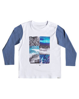 WHITE KIDS BOYS QUIKSILVER TOPS - EQKZT03301-WBB0